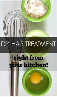 Instead of buying expensive hair products, make your own with this simple DIY Hair Treatment with items found in your kitchen!