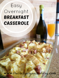 Overnight breakfast casserole with simple ingredients! It's a hit at brunch and easy to make! Try it this weekend and have leftovers all week!