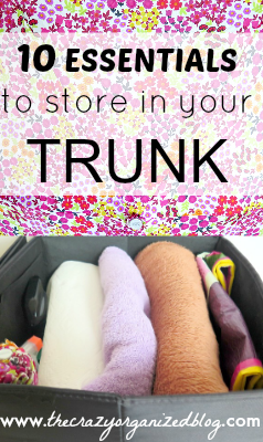 Make sure you've always got these 10 items stored in your trunk at all times! Don't worry, these trunk essentials WON'T take up your entire trunk!