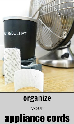 How can velcro help in organizing appliance cords? This simple 5 minute project will have your appliance cords organized easily!