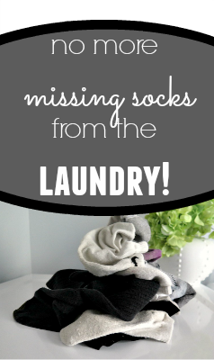 Never have missing socks after laundry again! This tutorial will keep your socks from going missing and laundry room organized!