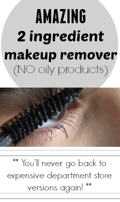 Don't spend all your hard earned cash on expensive makeup remover .... I promise this recipe is just as good as department store versions!