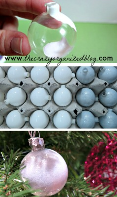 Make your own painted glass ornaments with this incredibly EASY DIY tutorial! All you need is acrylic paint and clear ornaments!