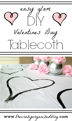 Quick AND functional holiday decoration! Try out this Valentines Day tablecloth to with easy tutorial. Great project for kids too!