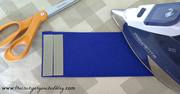 No more tangling ironing cords falling all over with this no sew DIY Ironing Cord Holder! Easy to make in only 15 minutes!