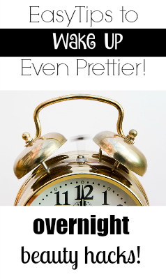 While I'm not a beauty expert, I am a self proclaimed expert on saving time, even when I'm sleeping!Try out these 10 overnight beauty tips!