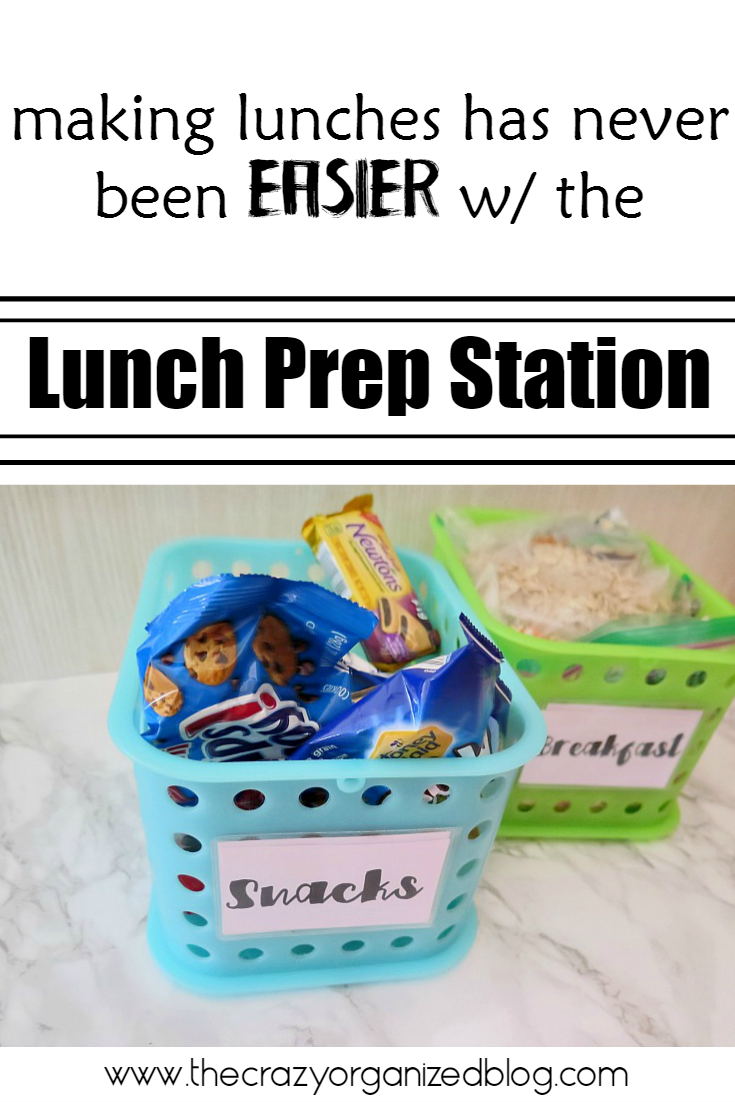 Lunches prepared in minutes with your own lunch prep station with one cabinet and a little room in your fridge! Preparing lunches has never been so easy!