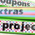Paper Organization Series // Decorative 3 Ring Binder Labels
