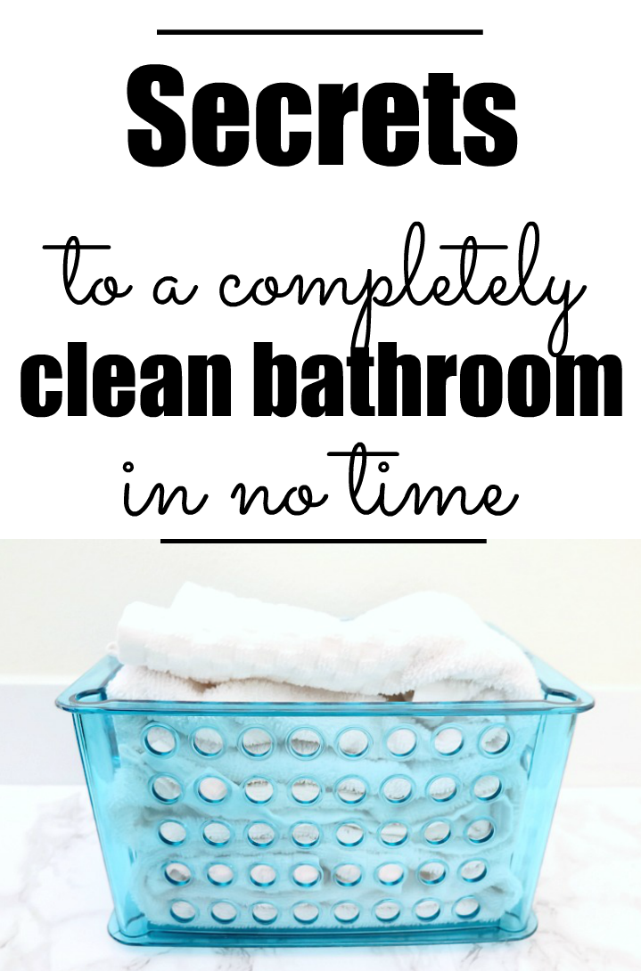 cleaning tips I really need for my bathroom.
