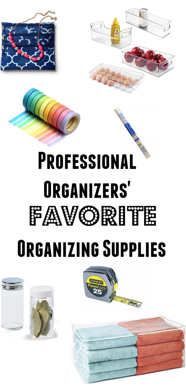 really great ideas for good organizing supplies that I would have never thought of, especially #4