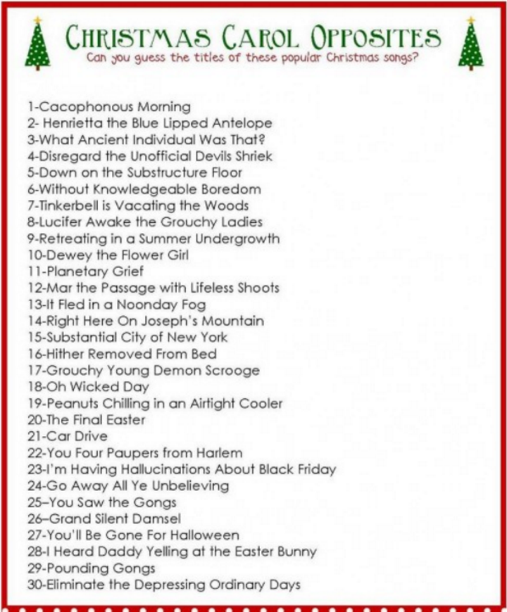 photo regarding Guess the Christmas Song Printable named 12 Hilarious Xmas Get together Online games towards Try out this Year!