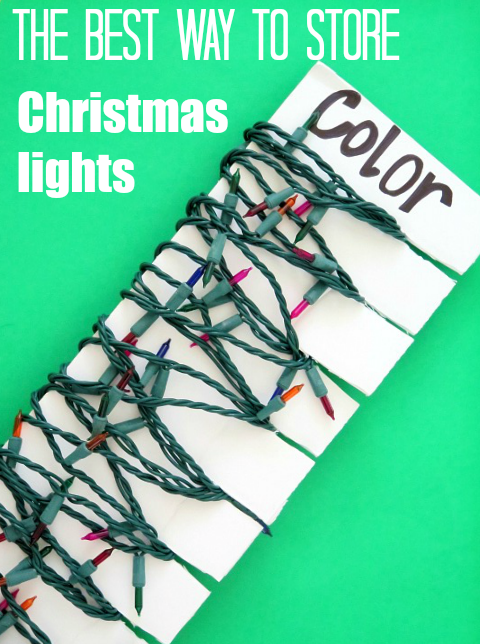 The BEST way to store and organize Christmas lights!