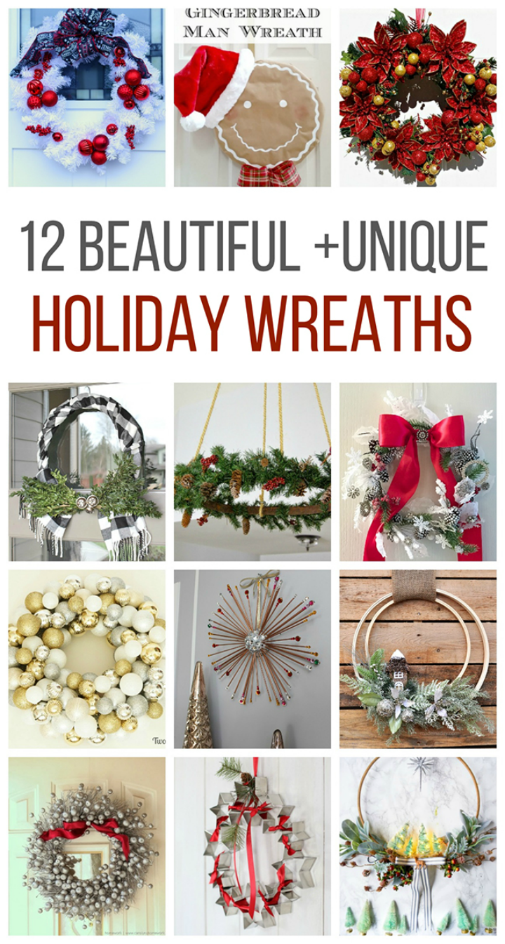 We found the 12 most beautiful and unique Christmas Wreaths on the web! We love the creativity and originality of these incredible wreaths!