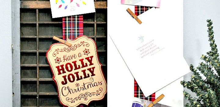 Unique Christmas Card Displays // 12 Days of Christmas