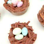 Easy No Bake Chocolate Bird Nest Cookies