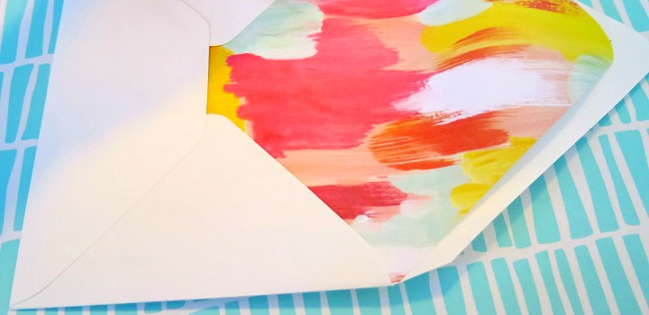 The Best Way to Make Envelope Liners + Baby Shower Invite Template