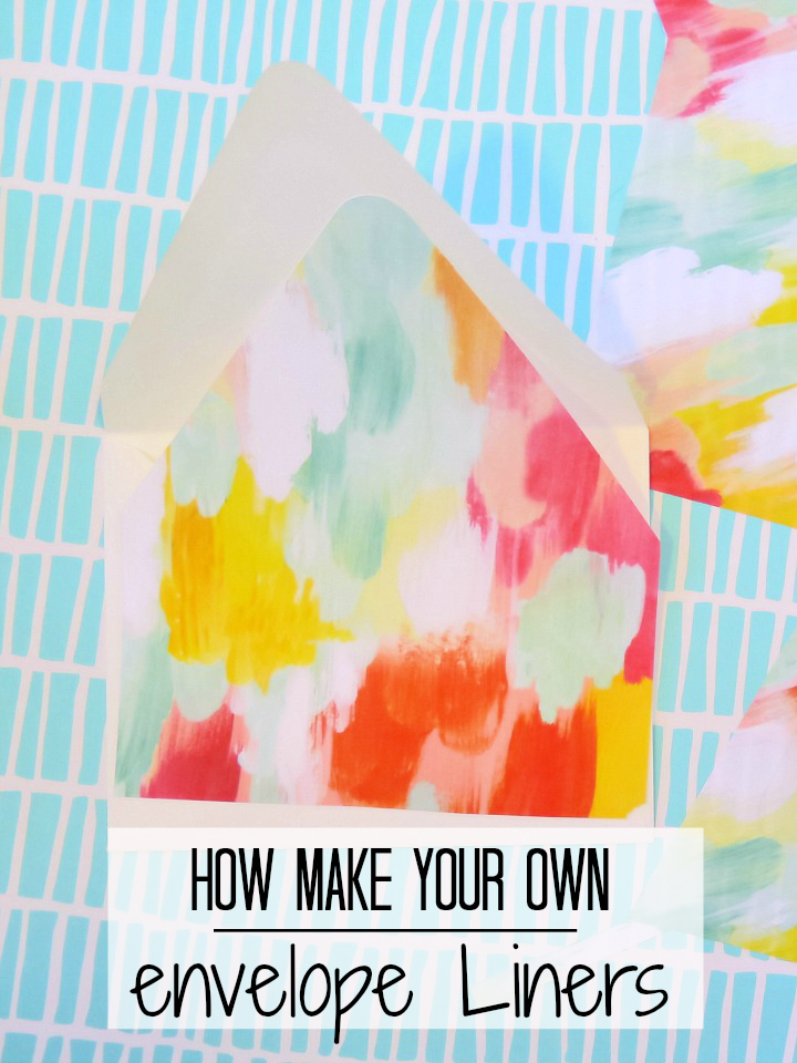 Step by step guide to make your own envelope liners!
