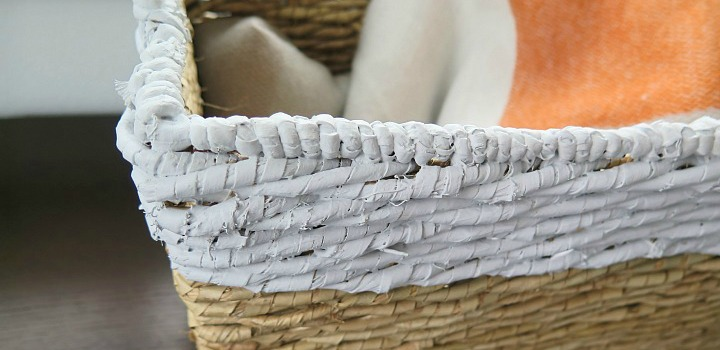 How to Make Paint Dipped Baskets