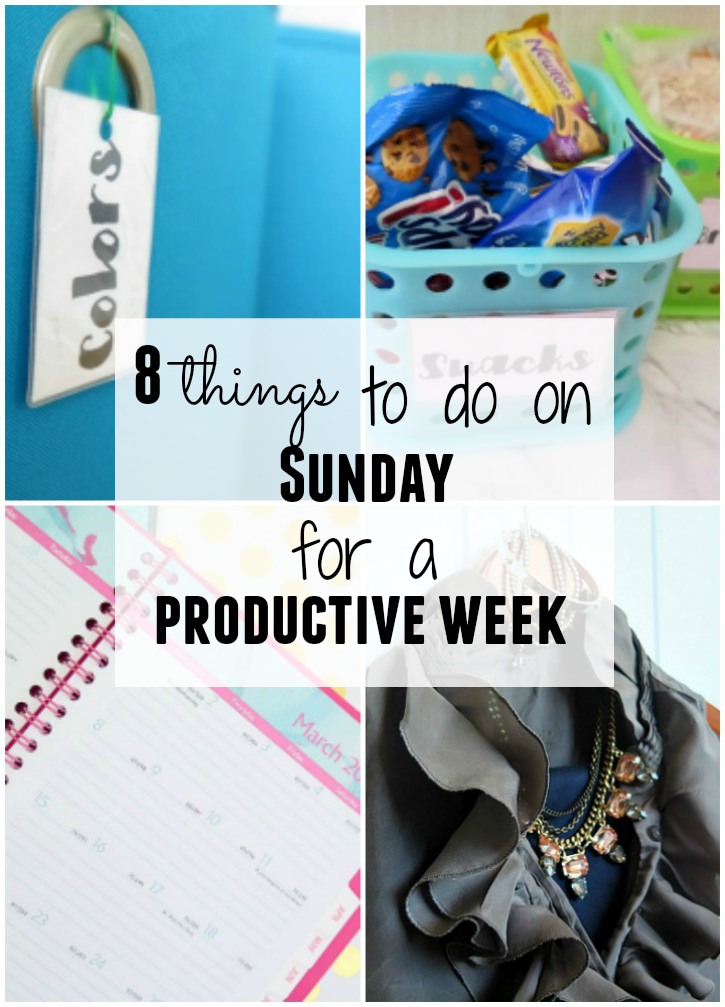 The 8 things I do each weekend for a more productive week! These are easy to accomplish and help start my work week off prepared!