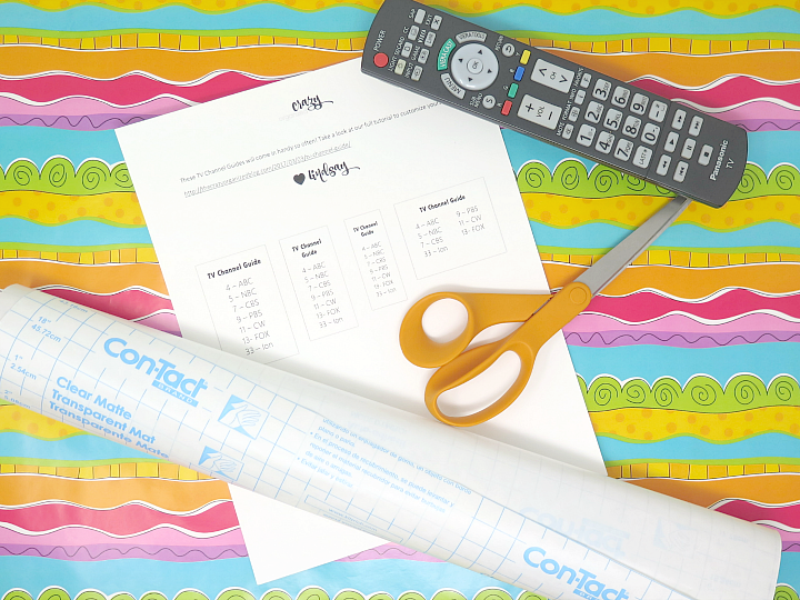 Forget which channel is which? Make your own customizable TV channel guide with our free printable and secure to your remote!