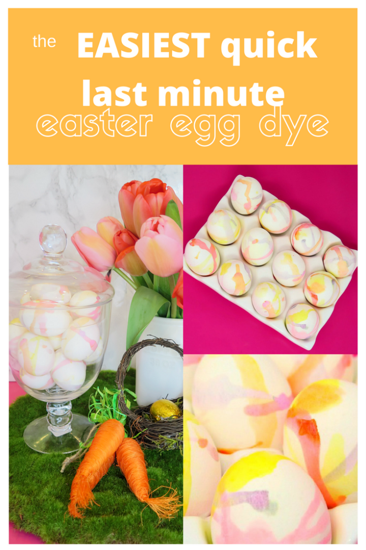 Step by step instructions for the easiest way to color Easter eggs in a hurry! Looks like it took hours, but you'll spend just 5 minutes!