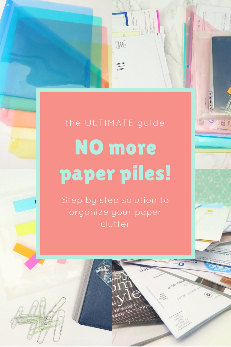 A better way to manage all your paper clutter in just 5 easy steps! This is the system I've been using for years to manage all our paper piles!