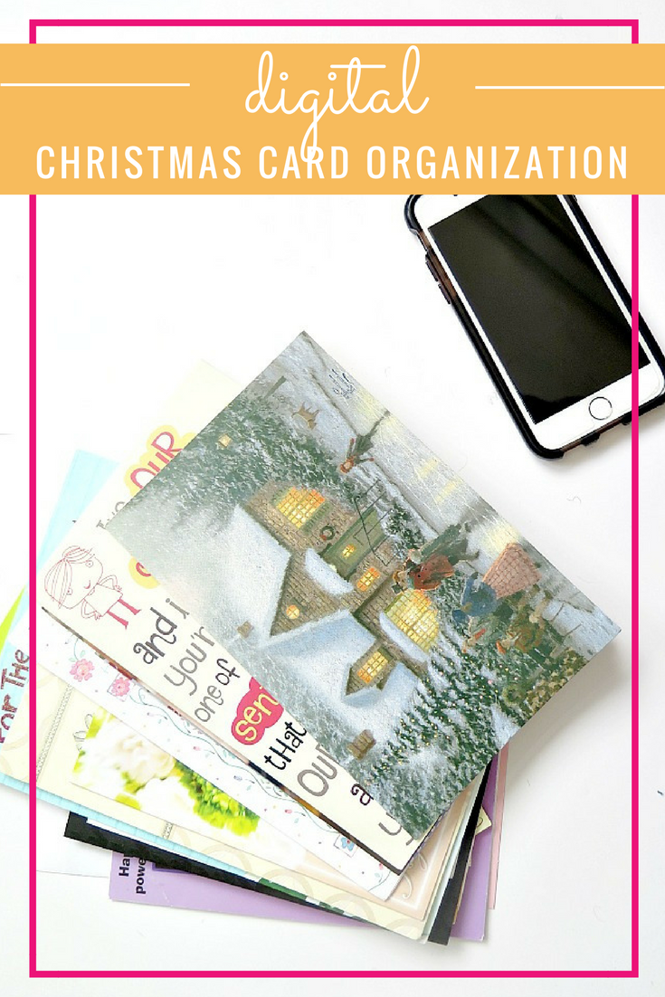 Step by step tutorial for organizing your Christmas cards digitally!