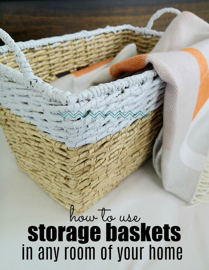 The top tips to decorating your home with storage baskets!