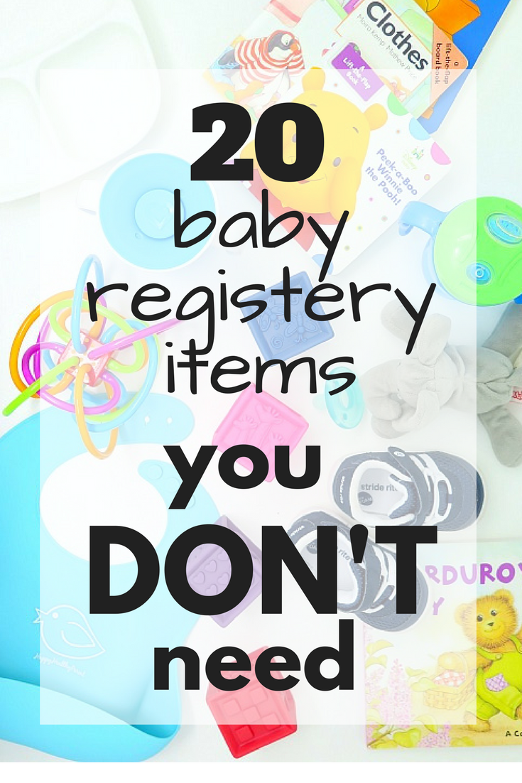 Here's the 20 items that you really do not need to register for! Skip these items when you're putting together your baby registery.