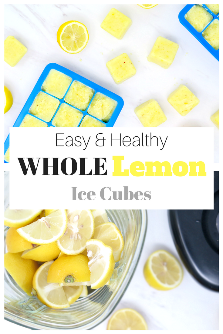 Easy freezer whole lemon ice cubes are an easy way to start the morning healthy!