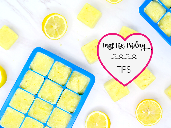 These whole lemon ice cubes are a perfect healthy start to the day!