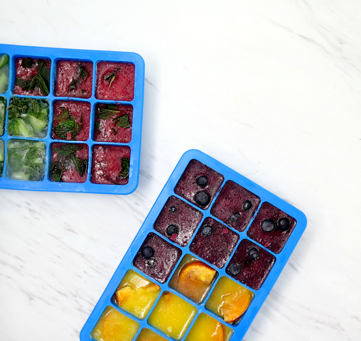 Making flavored ice cubes is an easy way to encourage you to drink more water!