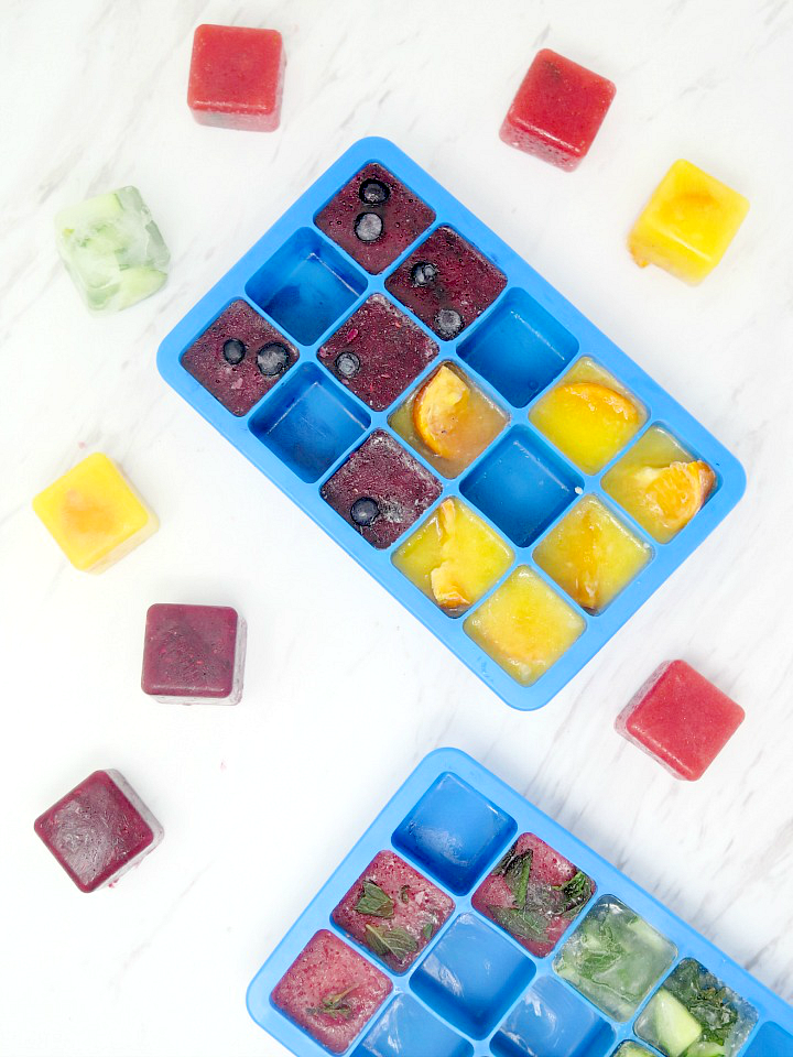 To encourage me to drink more water, I stock up on these flavored ice cubes! #flavoredicecubes