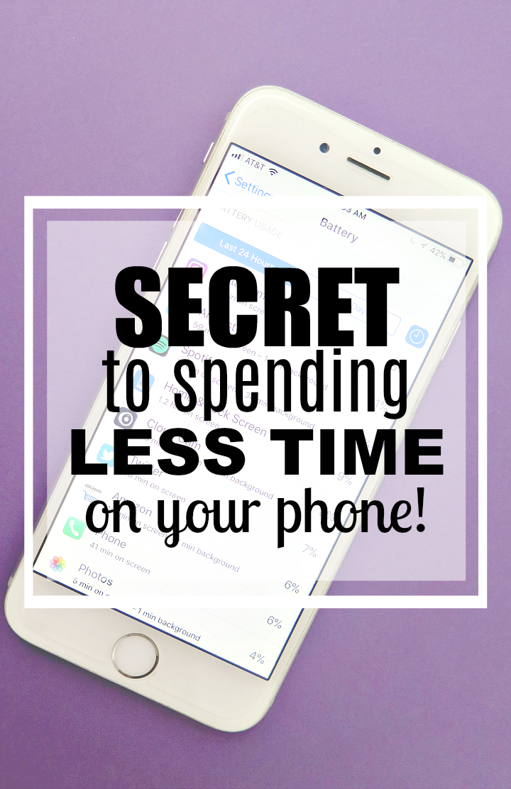 How much time are you spending on your phone each day?? TOO much! Here's easy tips and tricks to spend less time on your phone!