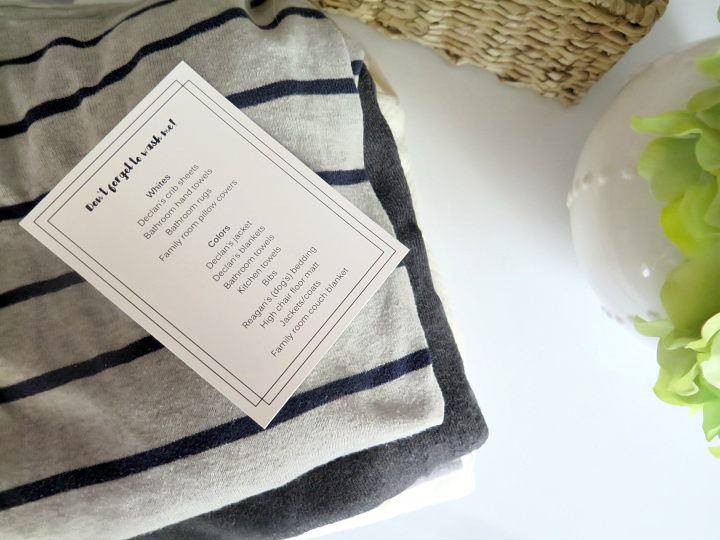 Read on for the 5 minute solution to never forget a piece of laundry again. Create a 'Dirty Laundry Reminder List Card' placed on your washer!